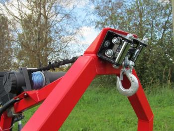 Elektrischer Seilwindensatz für ATV Baumstammtransporter