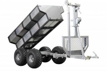 ATV Holzanhänger + Transportcontainer + Kran