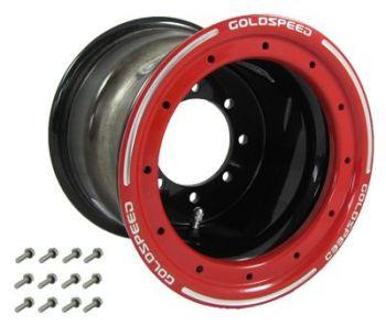 GS: 10X8 4/110/115 3+5 B BEAD LOCK SCHWARZ – ROTER RING