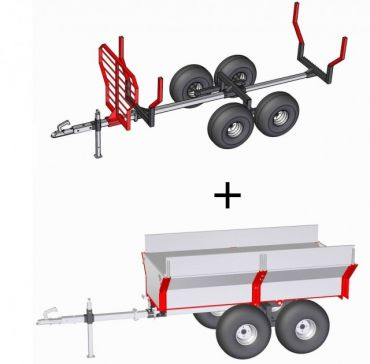 ATV Holztransporter + Ladecontainer 2-in-1