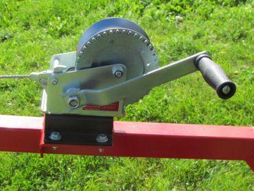 Handbetriebener Seilwindensatz für ATV Baumstammtransporter