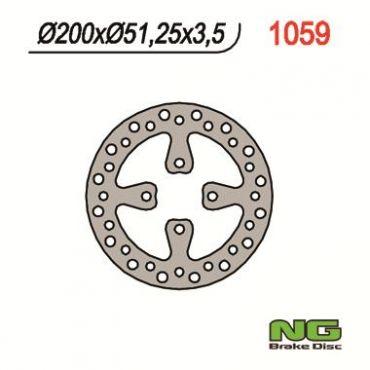 Hintere Bremsscheibe für YFZ450 06-08, YFM700 Raptor 06-08
