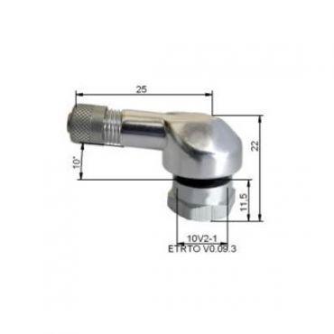 Alu Reifenventile  Ø11,5mm Silber