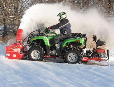 Schneefräse für ATV, Quad mit 19 PS Briggs & Stratton Motor